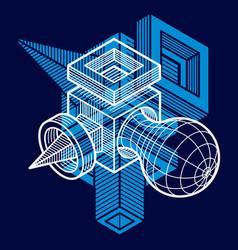 engineering three-dimensional construction vector image
