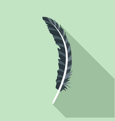 fashion feather icon flat style vector image
