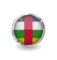 flag of central african republic button with vector image
