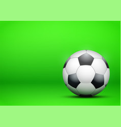 football soccer ball on bright green background vector image