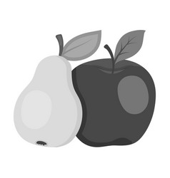 fruit single icon in monochrome style fruit vector image
