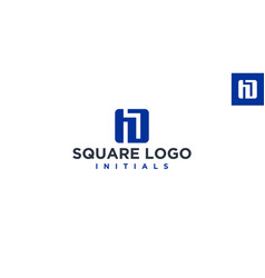 h or hd square logo design inspiration vector image