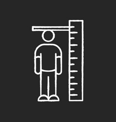 Height measurement chalk white icon on black vector