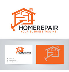 Home repair logo design vector