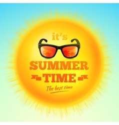 Its Summer Time typographic inscription vector image