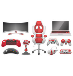 joystick controllers gadget and accessory vector image