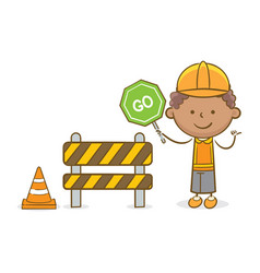 Kid with go sign vector