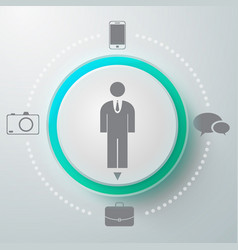 male selector round composition vector image