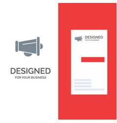 Megaphone announce marketing speaker grey logo vector