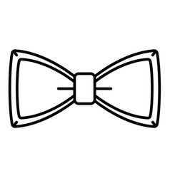 neck bow tie icon outline style vector image