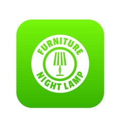 night lamp icon green vector image