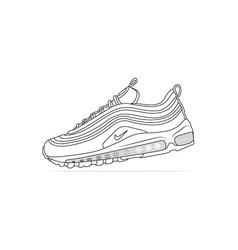 Nike air max 97 blanc sneakers vector