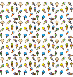 pattern ice cream color vector image
