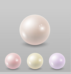 pearl set isolated vector image