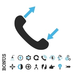 Phone Talking Flat Icon With Bonus vector