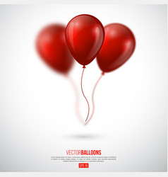 realistic 3d glossy ballons with blur effect vector image