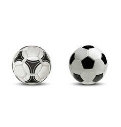 realistic soccer ball or football ball isolated vector image