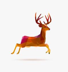 Reindeer jump autumn vector