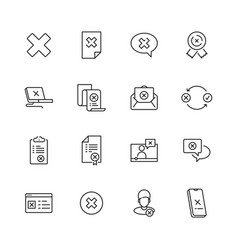 rejected icons judge stamp refuses computer vector image