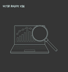 research icon line element of vector image