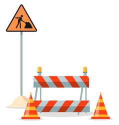road repair under vector image