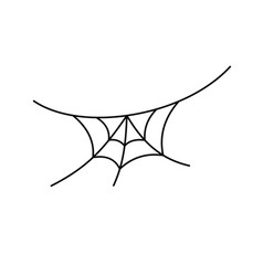 scary spiderweb black cobweb isolated white vector image