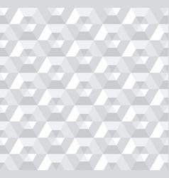 Seamless 3d hexagons pattern vector