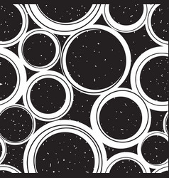seamless geometric pattern with round objects vector image