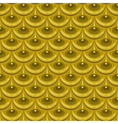 Seamless gold river fish scales vector