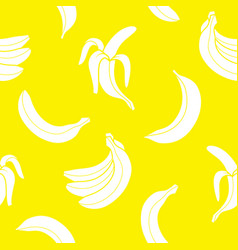 seamless pattern banana vector image