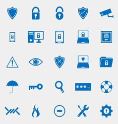 Security color icons on grey background vector