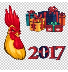 set design elements on new year 2017 vector image