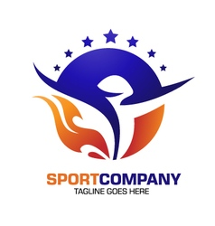 sport power spirit fitness logo vector image