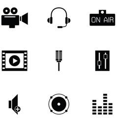 studio icon set vector image