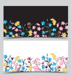 Summer floral decorations vector