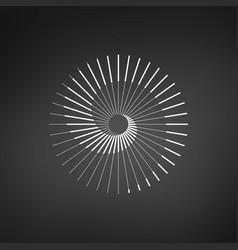 Sun spiral logo simple stylized symbol vector