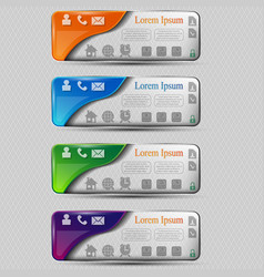 the set of colored transparent banners with vector image