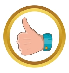 Thumb up gesture icon vector