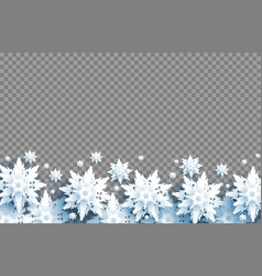 transparent background and snow vector image