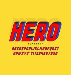 Trendy 3d comical design colorful alphabet vector