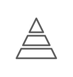 Triangular graph line icon vector