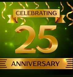 Twenty five years anniversary celebration design vector