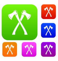 Two crossed axes set collection vector