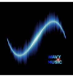 Wave shaped sound waveform vector