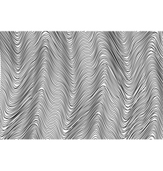 Wavy stripes background vector image