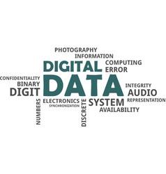 Word cloud - digital data vector