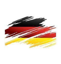 Flag Germany in the form traces brush vector image vector image