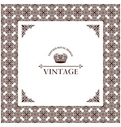 vector vintage decor frame ornament retro vector image vector image
