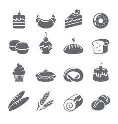 Baking Icons Black vector image