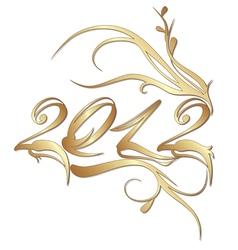 Golden new year 2012 vector